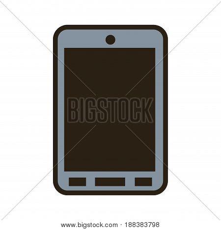 cartoon smartphone technology communication call vector illustration