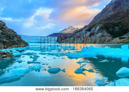 Grey Glacier,patagonia, Chile,southern Patagonian Ice Field, Cor