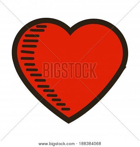 love heart romantic feeling emotion image vector illustration
