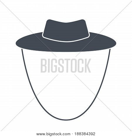 Garden or cowboy hat, vector illustration isolated on a white background