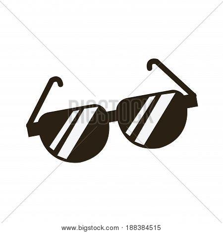 cartoon sunglasses accessory fashion icon vector illustration
