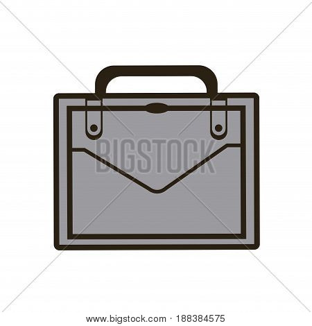 business portfolio suitcase document paper image vector illustration