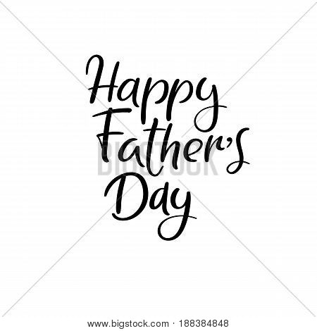 Happy Father's Day Calligraphy Greeting Card. Handwritten Inscription.
