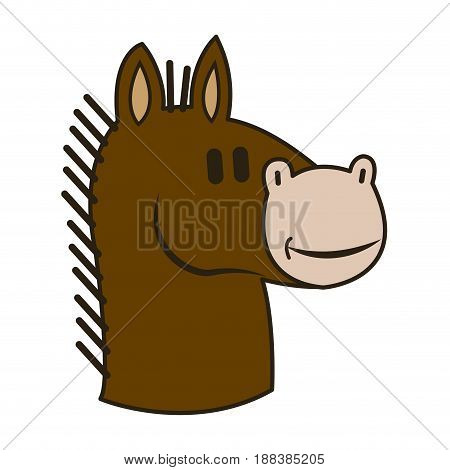 knight chess horse piece strategy business vector illustration