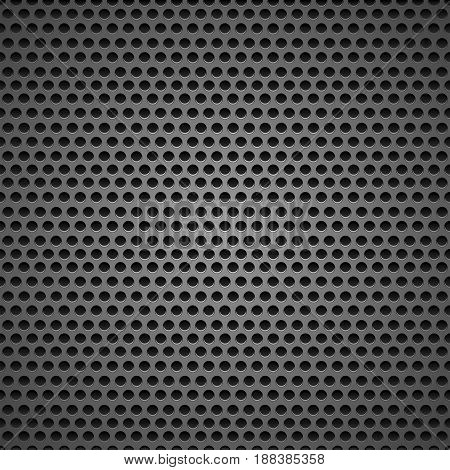 Abstract black speaker grill background, seamless pattern, illustration.