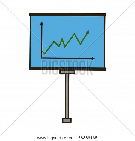 business board growing chart presentation icon vector illustration