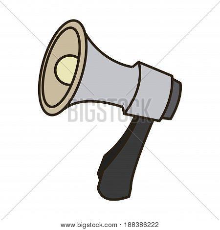 cartoon megaphone icon. social media marketing concept. vector illustration