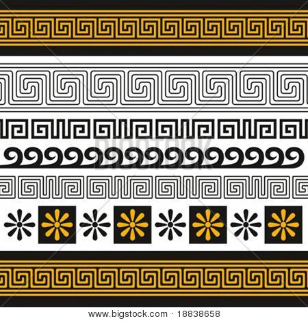 vector set of greece ornaments, you can decorate with them anything