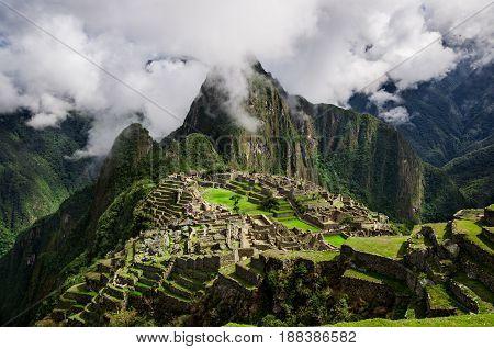 Machu Picchu. Lost city of Inkas in Peru mountains.