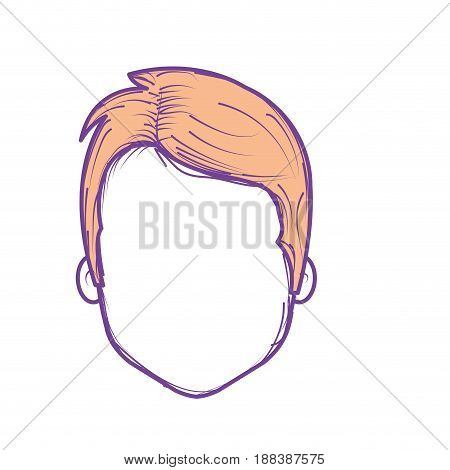 nice man face with haistyle, vector illustration