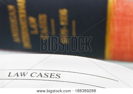 Law Cases text from a law book