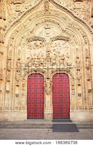 Doors to the Cathedral of Salamanca, Spain