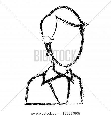 portrait business man professional work image vector illustration