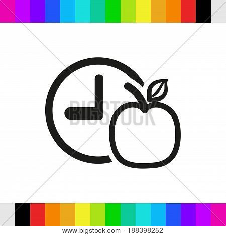 watch Apple Breakfast icon stock vector illustration flat design
