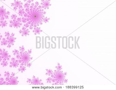 Pink soft decorative fancy floral decorated background decor