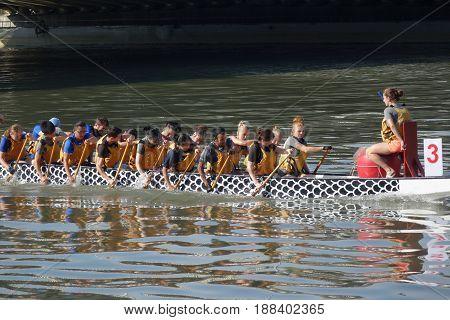 Training For The Dragon Boat Races In Taiwan