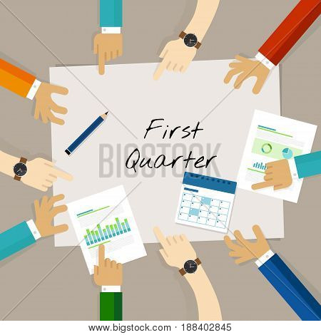 first quarter business report target corporate financial result vector