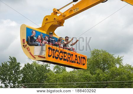 West Berlin, Nj - May 28: Diggerland Usa, The Only Construction Themed Adventure Park In North Ameri