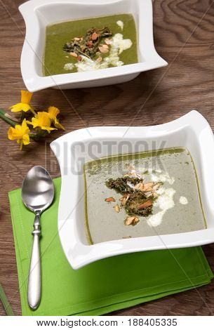 Kale-potato Soup With Almond