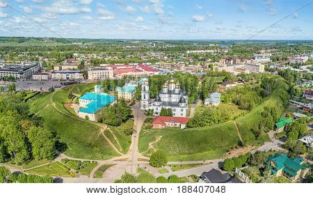 Dmitrovsky Kremlin is a partially preserved ancient fortress of the 12th century in the city of Dmitrov located north of Moscow