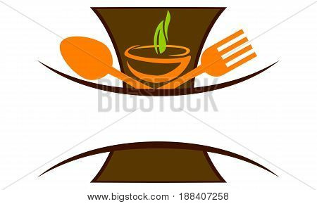 This image describe about Global Culinary Emblem Template Blank