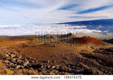 Breathtaking View Of Mauna Loa Volcano On The Big Island Of Hawaii.