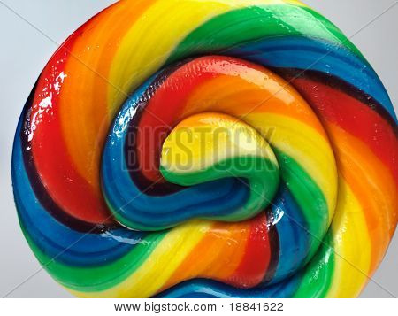 Colorful appetizing lollipop close-up