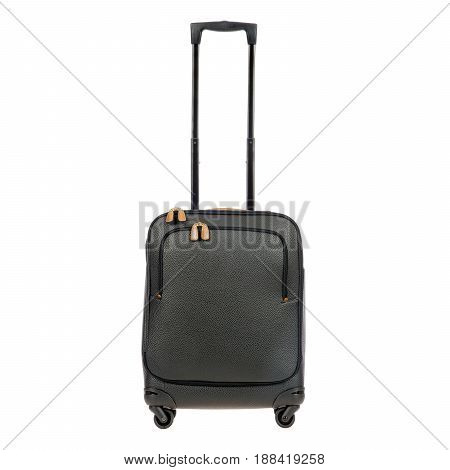 Spinner Trunk Isolated On White Background. Trolley Travel Bag. Vip Trolley Bag. Trolley Luggage Bag