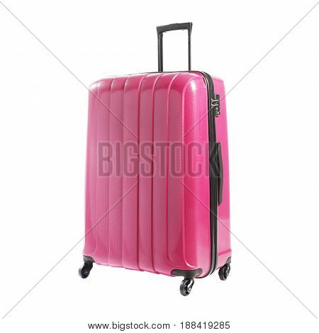 Vip Trolley Bag Isolated On White Background. Spinner Trunk. Trolley Travel Bag. Trolley Luggage Bag