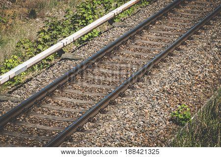 single rail, railroad railway - travel concept