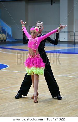 Orenburg, Russia - December 11, 2016: Girl And Boy Dancing
