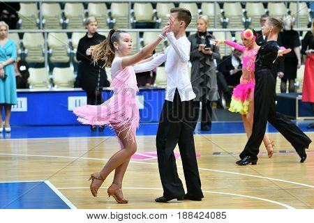 Orenburg, Russia - December 11, 2016: Girl And Boy Dancing