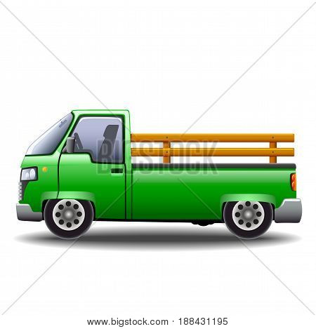 Eco-car with electric motor for cargo transportation and delivery without harm to the environment