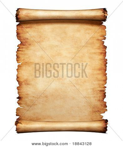 Old grungy piece of parchment paper. Antique manuscript letter background.