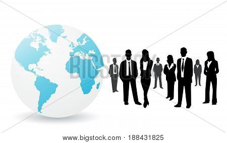 Business people vector illustration on white background