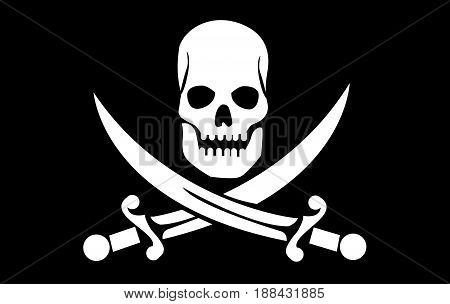 skull with crossed bones illustration on black background