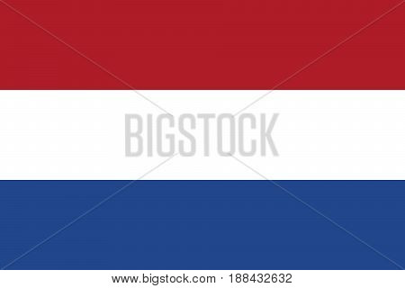 Flag of the Netherlands, vector illustration Official symbol of the country