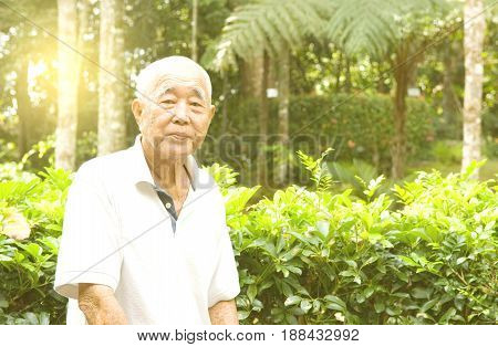 Portrait of a smiling asian senior man