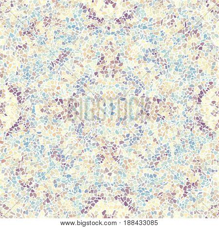 Seamless background pattern. Decorative geometric mosaic pattern. Gamma of pastel colors.