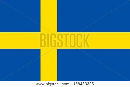 Flag of Sweden, vector illustration Official symbol of the country
