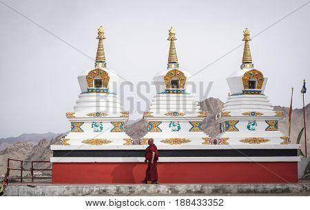 Tibetan Buddhist Temple In Ladakh, India