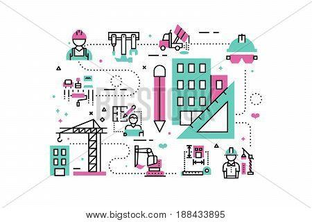 Construction Project Illustration