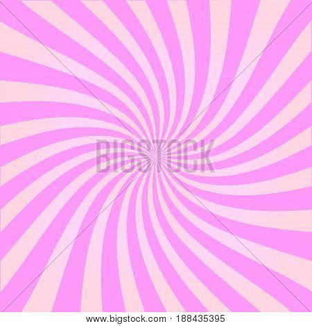 rays pink background. vector illustration. ice cream