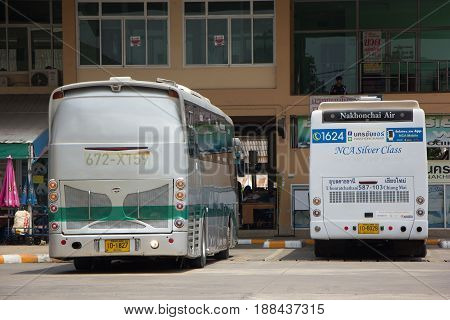 Scania Bus Of Greenbus Company. Route Between Maesai And Maesot.