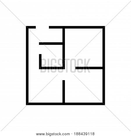 Plan icon, Isolated on white background, stock vector illustration