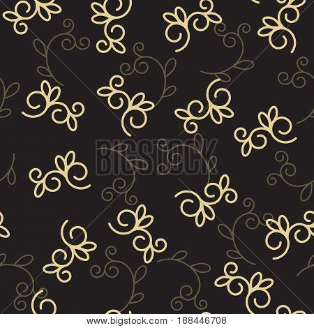 Seamless background, vector pattern for cushion, pillow, bandanna, kerchief, shawl fabric print. Texture for clothes and bedclothes. Floral pattern made of doodles. Cartoon flowers