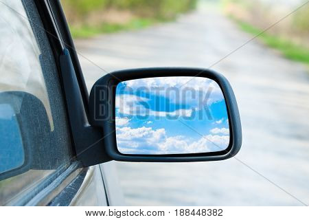Rearview Mirror Close Up