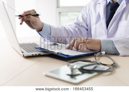 Doctor And Patient Are Discussing Something, Just Hands Talk Doctor Reassuring Her Patient