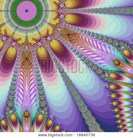 abstract fractal background created with the fractal explorer
