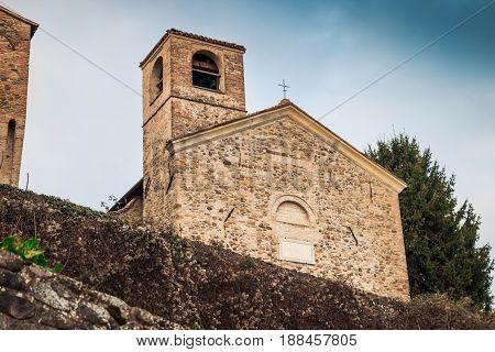 Historical Church Near Torrechiara Castle